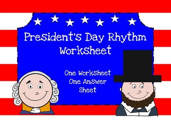 President's Day Music Rhythm Worksheet
