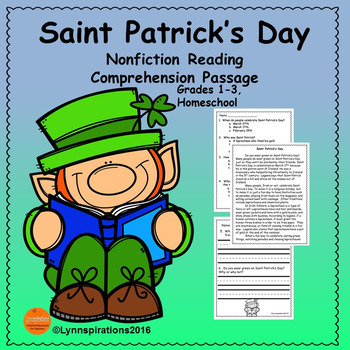 Saint Patrick's Day Reading Comprehension