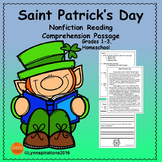 March Activities - Saint Patrick's Day Reading Comprehension