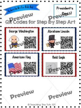 President's Day Nonfiction Projects- QR Codes for How-To Drawing Videos