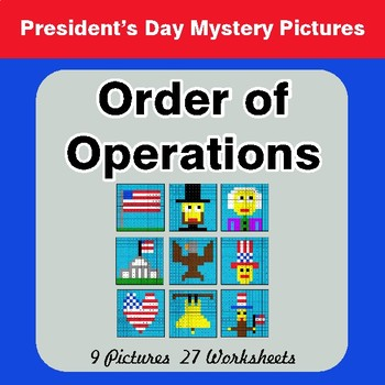 President's Day: Order of Operations - Color-By-Number Mystery Pictures