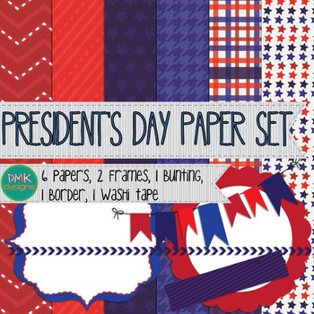 Digital Paper and Frame Set- President's Day