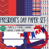 Digital Paper and Frame Set- President's Day