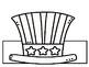 President's Day Patriotic Hat