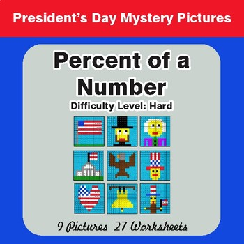 President's Day: Percent of a number - Color-By-Number Mystery Pictures
