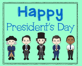 President's Day Poster, Class Decor, Holiday Sign, Bulletin Board