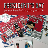 FREEBIE President's Day Preschool Language Unit