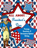 President's Day Reading Comprehension Questions and Persua