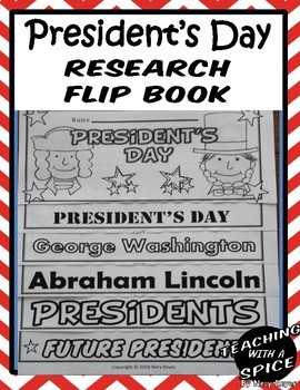 President's Day Research Flip Book
