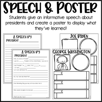 Presidents Research Project, Speech & Poster
