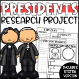 Presidents Day Research Project, Speech & Poster