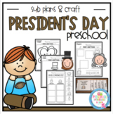 President's Day Shapes Sub Plans and Craft
