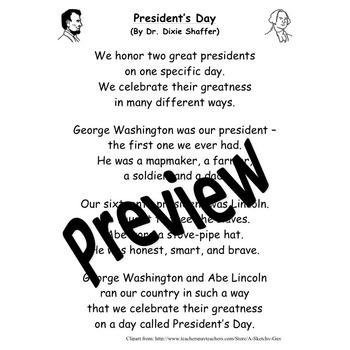 President's Day Shared Readings