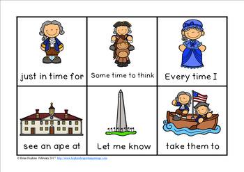 President's Day Sight Word Fluency Phrases Race