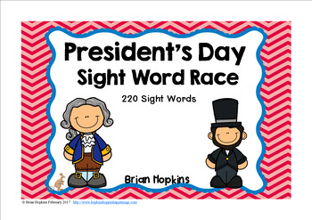 President's Day Sight Word Race