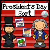 President's Day Sort with No Prep Cut and Paste Practice Pages
