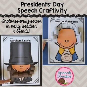 Presidents' Day Speech Therapy Crafts