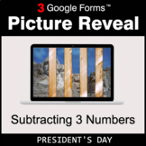 President's Day: Subtracting 3 Numbers - Google Forms Math