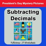 President's Day: Subtracting Decimals - Color-By-Number My