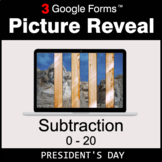 President's Day: Subtraction 0-20 - Google Forms Math Game