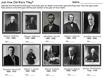 President's Day - Subtraction with/without Regrouping and Place Value