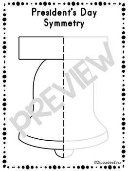 President's Day Symmetry Drawing Activity for Art and Math