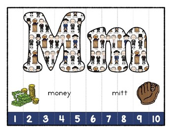 President's Day ~ Teaching by the Letter Holiday Strip Number Puzzles