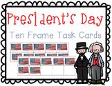 President's Day Addition Ten Frame Task Cards