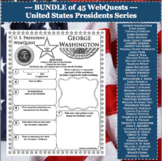 President's Day U.S. PRESIDENT WebQuests Research Project Biography
