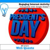 Presidents' Day WebQuest - Engaging Internet Activity {Includes Google Slides}