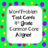 Math Word Problems Task Cards - Grade 4