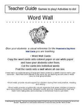 President's Day Word Wall - Copy, Cut, and Go!