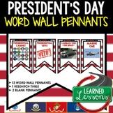 President's Day Word Wall Pennants, Presidency