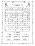 President's Day Wordsearch