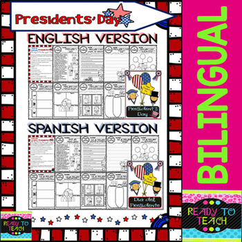 President's Day - Worksheets and Reading - Bilingual