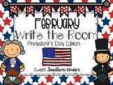 President's Day Write the Room Activities February