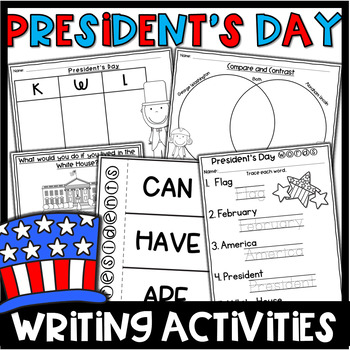 President's Day Writing- Activities and Prompts