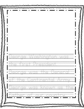 President's Day Writing Activity