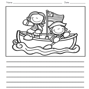President's Day Writing Journal with Word Wall Cards