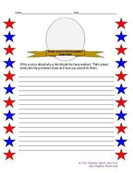 President's Day Writing Page