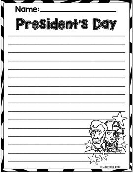 President's Day Writing Paper
