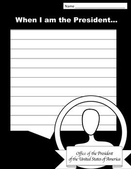 President's Day Writing Printable