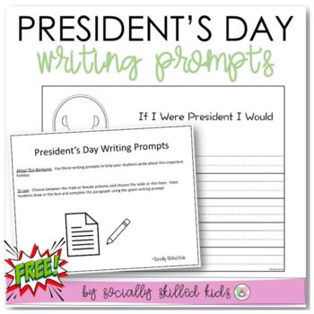 President's Day Writing Prompts {Differentiated}