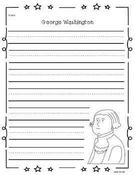 President's Day Writing Prompts:  No Prep and Primary Lines