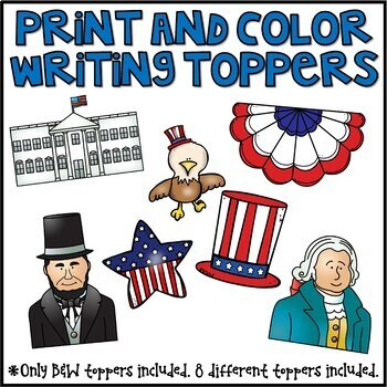 President's Day Writing Prompts & Page Topper Craftivities