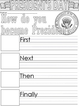 President's Day Writing Prompts and Worksheets