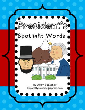 President's Day and Patriotic Spotlight Word Game