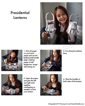 President's Day fine motor skills paper lantern craft activity FREE bald eagle