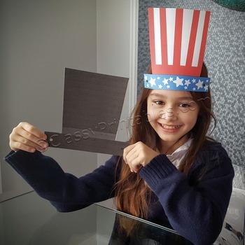 President's Day EASY fine motor skills presidential hats craft FREE fact sheet