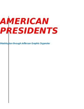 President's Graphic Organizer, Washington through Jefferson